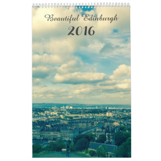 Custom Printed Calendar, beautiful Edinburgh 2016 Calendar