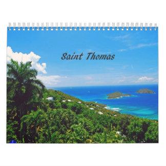 Custom Printed Calendar Caribbean Islands