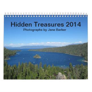 Custom Printed Calendar - Hidden Treasures 2014
