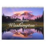 "Custom Printed Calendar ""Mountains of Washington"""