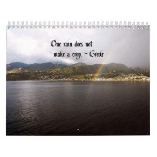 Custom Printed calendar Native American Indina