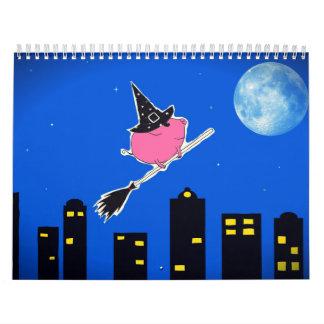 Custom Printed Calendar 'PiGgy on Halloween!'
