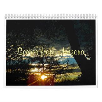 Custom Printed Calendar - Scenes From Arizona