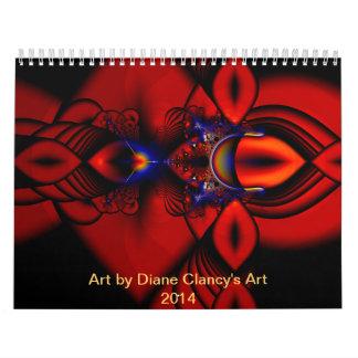 Custom Printed Calendar with Diane Clancy's Art