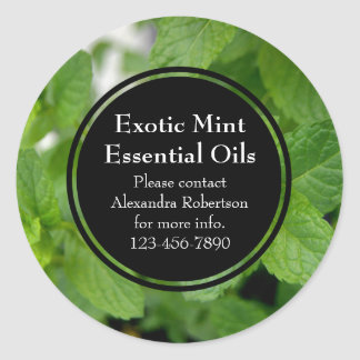 Custom Printed Essential Oil Business Bottle Label