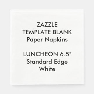 Custom Printed Large WHITE Luncheon Paper Napkins