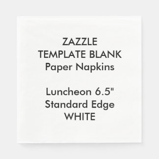 Custom Printed Large WHITE Luncheon PaperNapkins Paper Napkin
