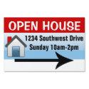 Custom Printed Open House Yard Sign