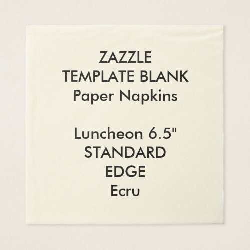 Custom Printed Plain Luncheon Paper Napkins