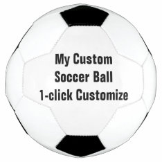 Custom Printed Soccer Ball Football Futbol at Zazzle