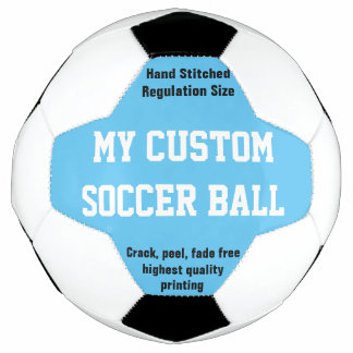 Custom Printed Soccer Ball Football Futbol BLUE
