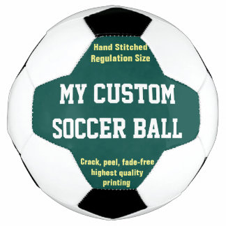 Custom Printed Soccer Ball Football Futbol GREEN
