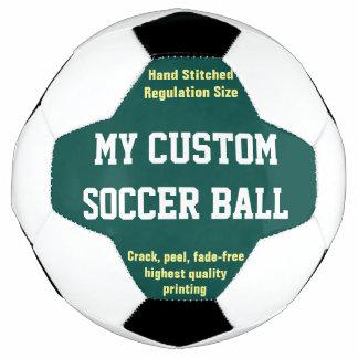 Custom Printed Soccer Ball Football Futbol GREEN