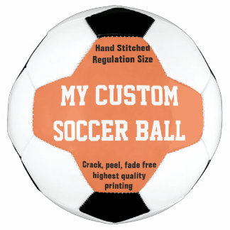 Custom Printed Soccer Ball Football Futbol ORANGE