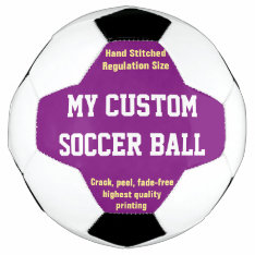 Custom Printed Soccer Ball Football Futbol Purple at Zazzle