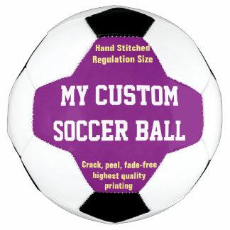 Custom Printed Soccer Ball Football Futbol PURPLE