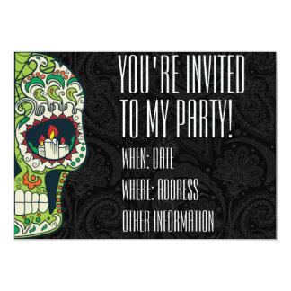 Custom Printed Tattoo Mexican Sugar Skull Card