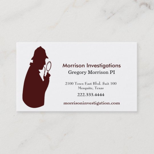 Custom private investigation business card zazzle custom private investigation business card colourmoves