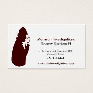 Custom Private Investigation Business Card