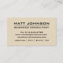 Custom Professional Beige Modern Business Card