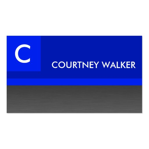 Custom professional blue business cards