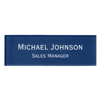 Custom Professional Executive Plain Blue Magnetic Name Tag