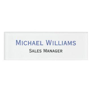 Custom Professional Executive Title Plain Magnetic Name Tag