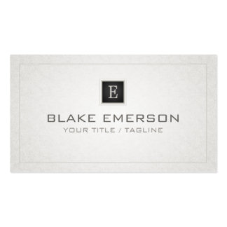 Custom Professional Monogram Business Card - gray