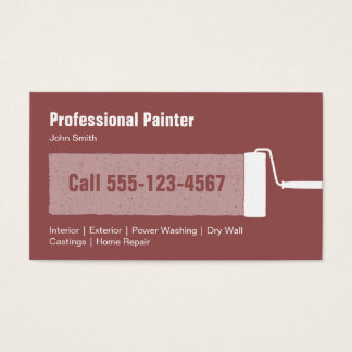 Custom Professional Painting Contractor Business Card