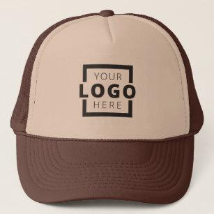fb9418d217503 Custom Promotional Business Logo Uniform Brown Trucker Hat