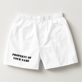 Custom property of boxer shorts and briefs for men