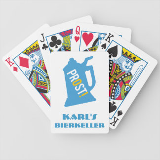 Custom Prost German Beer Garden Cards Bicycle Playing Cards