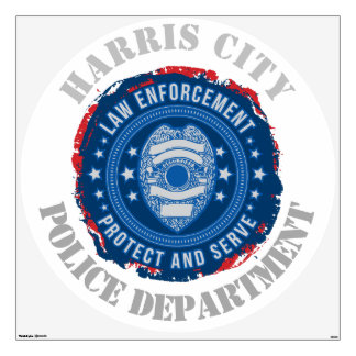 Custom Protect and Serve Seal of Safety Wall Decal