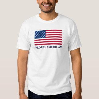 Custom PROUD AMERICAN Patriotic USA Flag t-shirt