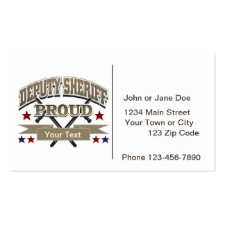 Custom Proud Deputy Sheriff Double-Sided Standard Business Cards (Pack Of 100)