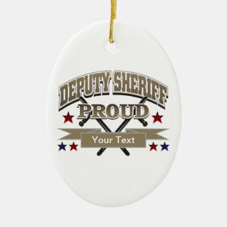 Custom Proud Deputy Sheriff Ceramic Ornament
