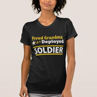 Custom Proud Grandma of a Deployed Soldier Shirt