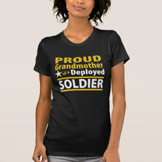 Custom Proud Grandmother of a Deployed Soldier T-shirt