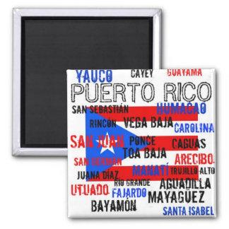 Custom Puerto Rico > San Juan, Ponce 2 Inch Square Magnet