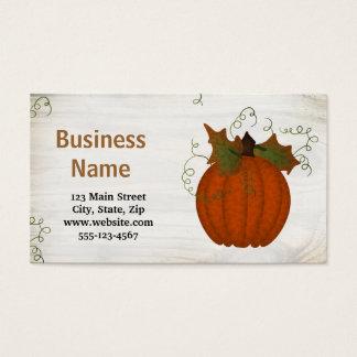 Custom Pumpkin Business Card