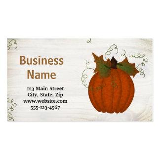 Custom Pumpkin Business Card Template