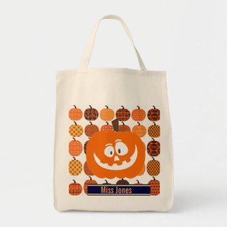 Custom Pumpkin Halloween Tote Bag