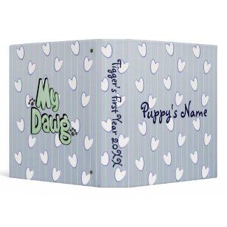Custom Puppy Dog Photo Binder Scrapbook binder