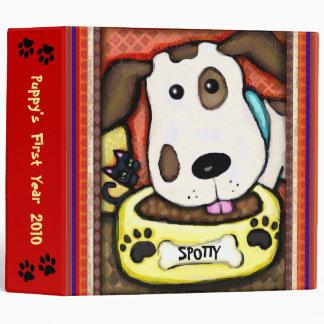 Custom Puppy Dog Photo Binder Scrapbook - Lge.