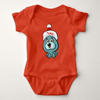 Custom Puppy Santa Baby Bodysuit