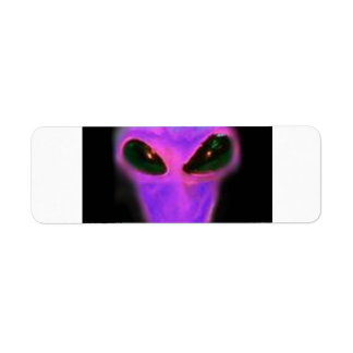 custom purple alien head area 51 label
