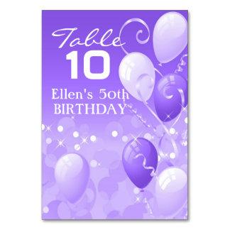 Custom Purple Balloons Coordinating Card