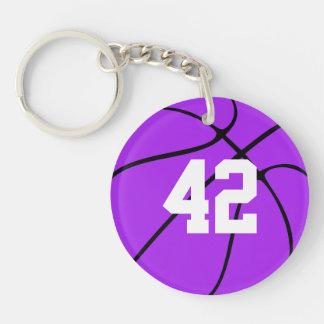 Custom Purple Basketball Keychain (Keyring)