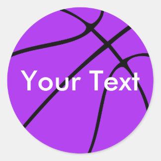 Custom Purple Basketball Sticker