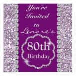 CUSTOM PURPLE BLING Birthday Party Invitation